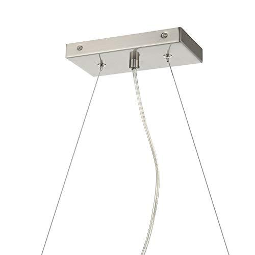 Effimero 3 Light Kitchen Island Hanging Fixture, Brushed Nickel, Linea di Liara LL-P331-BN by Linea di Liara (Image #4)