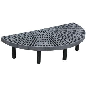 Half-Round Floral Table Black Plastic by Retail Resource