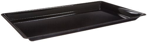 CaterLine Heavyweight Plastic Rectangle Catering Tray, 25 x 15-Inch, Black (20-Count)