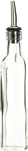 Winco Garrafa de óleo/vinagre com parte superior, 237 ml, transparente, médio