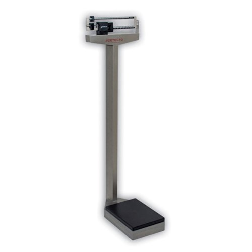 Detecto 437S Stainless Steel Eye Level Physician Scale without Height Rod