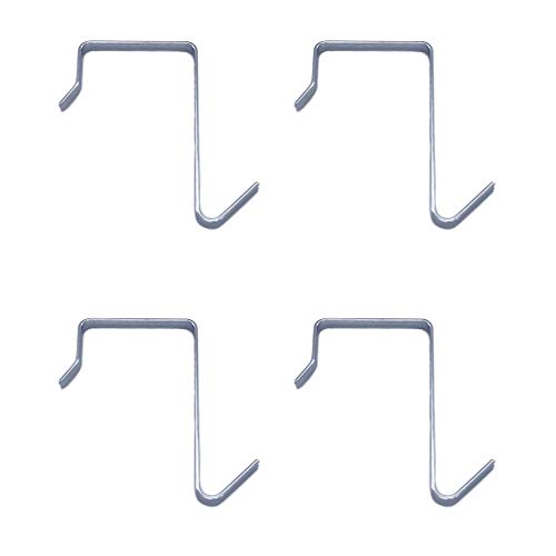 HanLingGG 4 Packs Over the Door Hanger Hook Pocket Chart Hanging Hooks Metal Space Saving Organizer for Coat, Towel, Bag, Robe,Clothes