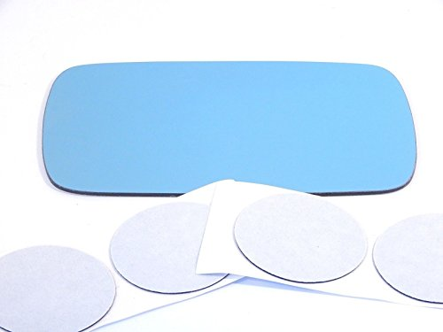 84-05 Bmw 3 Series All Except ci Models Left Driver Heated Mirror Blue Glass Lens w/Adhesive USA