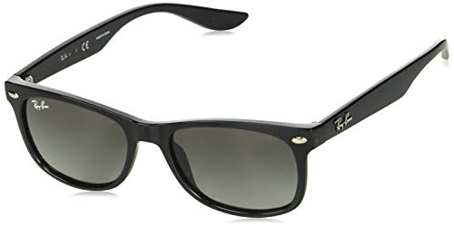 Ray-Ban Junior RJ9052S New Wayfarer Kids Sunglasses, Black/Grey Gradient, 48 mm (Ray-ban New Wayfarer Frames)