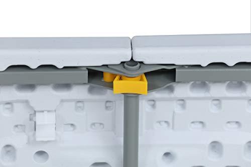 Tenco TG180 – Table Pliante Transportable, Table en Plastique Robuste, 180 cm, blanc
