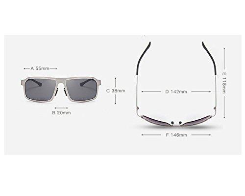 calidad gafas sol hombres conducen de de las de marco de que de libre aire la la del las Gafas sol de dorada manera montura gafas con Lente de negra los anti ULTRAVIOLETA manera polarización RFVBNM de sol al de la la personalidad Uq18HYg