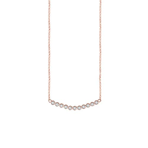 QUINBY Lucky Ball Link Rose Gold Plated Pendant Necklace with Gift Box