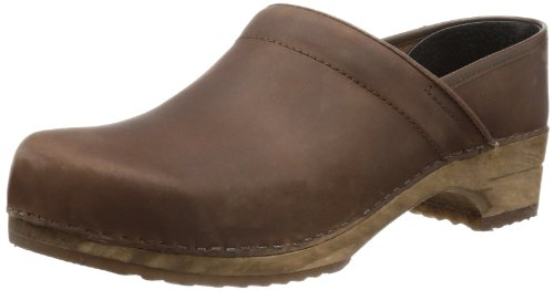 Sanita Wood-Jamie closed 1201005M-78 - Zuecos de cuero para hombre Marrón (Braun (Antiquebrown78))