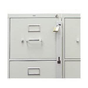 file cabinet locking bar locking bar for use with 1 drawer filing 15339