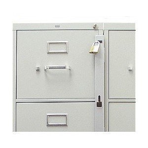 Amazon.com : Locking Bar for Use with 1 Drawer Filing Cabinet ...