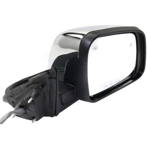 Power Mirror for Jeep Grand Cherokee 14-18 Right Side Power Folding Heated W//Bsd Mem Pdl//Signal Light Chrome Kool Vue JP07CR-S