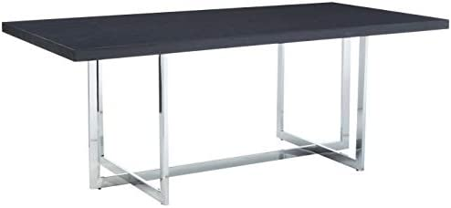 Meridian Furniture 738-T Elle Collection Modern | Contemporary Wood Veneer Top Dining Table