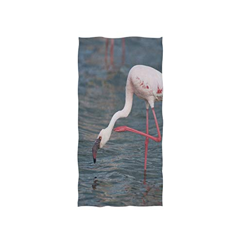 Mu Bamboo Dish Towel - Pingshoes American White Flamingo Hand Towels Ultra Soft Luxury Cotton Face Towel Washcloths for Home Kitchen Bathroom Spa Gym Swim Hotel Use