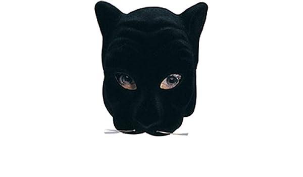 Horror-Shop Máscara Negro cara de la pantera: Amazon.es: Juguetes y juegos