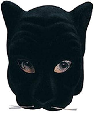 Horror-Shop Máscara Negro cara de la pantera