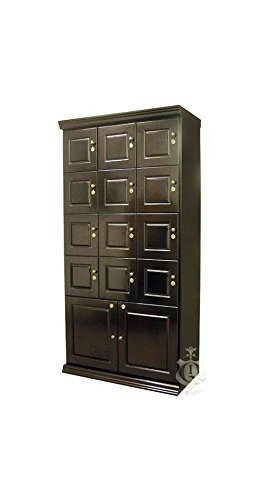 Quality Importers Cigar Locker with 14 Sections and Spanish Cedar Interior