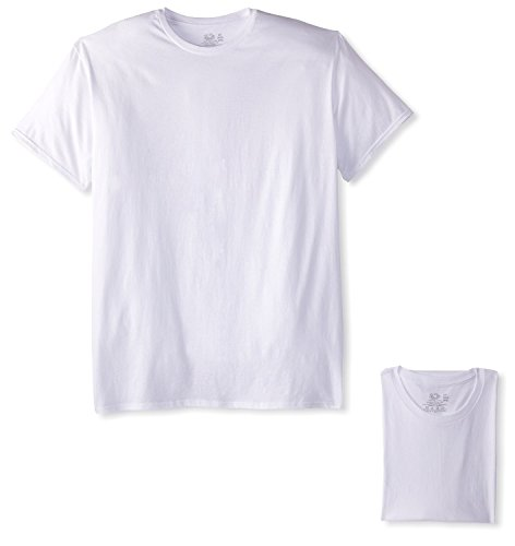 Fruit of the Loom Men's 3-Pack Tall Size Crew-Neck T-Shirt, White, LT (Fruit Of The Loom Tall Crew)
