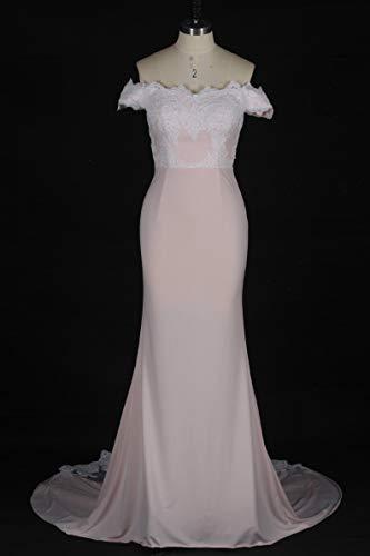 dentelle 9 en sirne robe Pink bal Robe de nu Style Light d'honneur en dentelle dos demoiselle Sweetheart dos de CwxRqv4