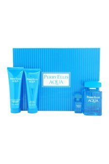 Perry Ellis for Men - 4 Pc Gift Set 3.4oz EDT Spray, 3oz Soothing After Shave Balm, 3oz Shower Gel, 0.25oz EDT Spray by Perry (0.25 Edt)