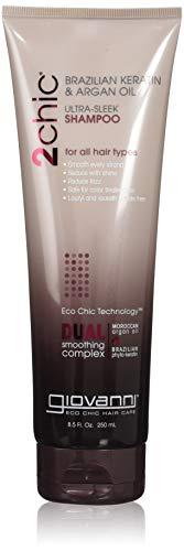 GIOVANNI COSMETICS - 2Chic Brazilian Keratin & Argan Oil Ultra-Sleek Shampoo (8 Ounce / 250 Milliliter)