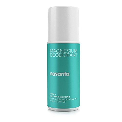 Nasanta magnesio Desodorante Mujer - Hecho En Australia Desodorante Natural, 100% libre de todas las formas de aluminio, 80 ml 2,7 FL OZ Roll On: Amazon.es: ...