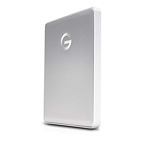 G-Technology 0G10264 1TB G-DRIVE mobile USB-C Portable Hard Drive - Silver by G-Technology