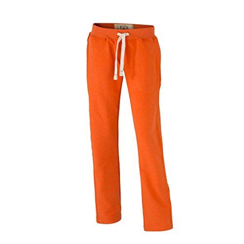 JAMES & NICHOLSON - Pantalón deportivo - Básico - para mujer orange foncé