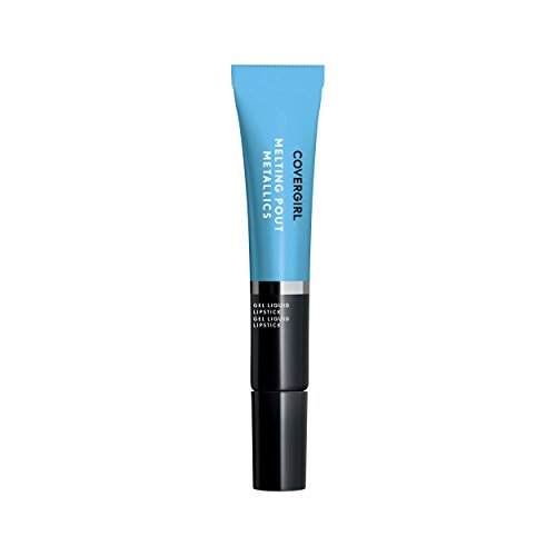 COVERGIRL Melting Pout Metallics Liquid Lipstick, Sunday Blue, 0.3 Ounce (packaging may vary)