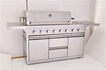 Barbecue a gas, Cucina da esterno in acciaio inox CKW EXCLUSIVE ...