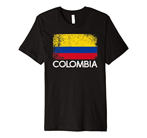 Colombian Flag T-Shirt | Vintage Made In Colombia Gift