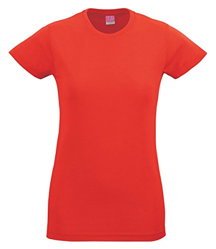 LAT Ladies Cotton Longer Length Crewneck T (Girls Fitted Tee)