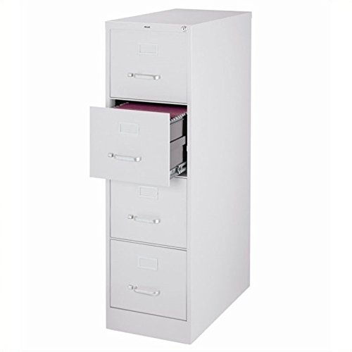 4 Drawer Commercial Letter Size Filing Cabinet Finish: Light Gray (Light File Gray Cabinets)
