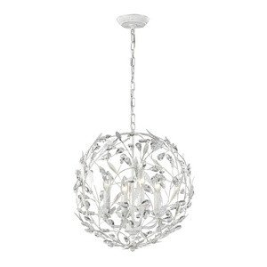 Elk Lighting 18124/4 Circeo Collection 4 Light Pendant, Antique White (Collection Circeo)