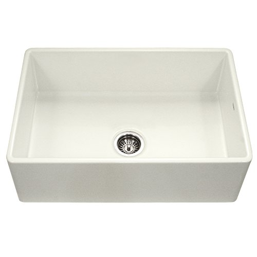 (Houzer PTG-4300 BQ Platus Series Apron-Front Fireclay Single Bowl Kitchen Sink, 33