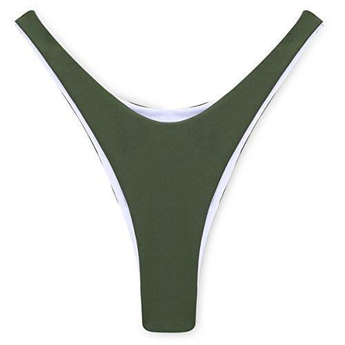 COSPOT Classic Black Brazilian Bikini Bottom Thong Cheeky V Style For (Brazilian Classic Thong)