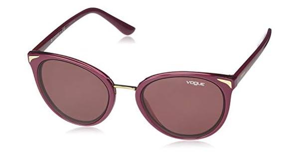 Amazon.com: Gafas de sol Vogue VO 5230 S 255575 TOP DARK RED ...