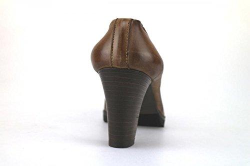 CALPIERRE Zapatos de salón mujer marrón cuero AJ399