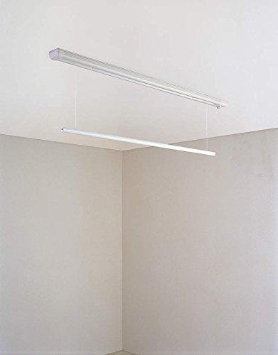 大建工業 室内物干し ものほし上手 天井直付けタイプ 直付昇降タイプ FQ0402-2N ショート(1340mmタイプ) B00PA33K7M