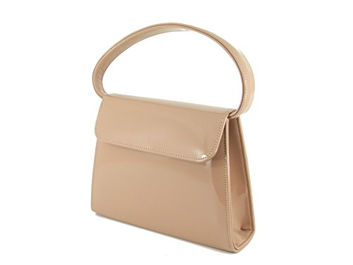 Trophy Beige Patent with Clutch Strap LONI Taupe Shoulder in Nude Handbag AZdR7wqx