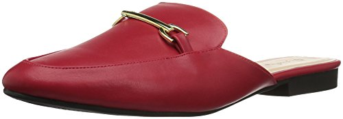 Qupid Women's REGENT-02 Loafer Flat, red, 7 M US from Qupid