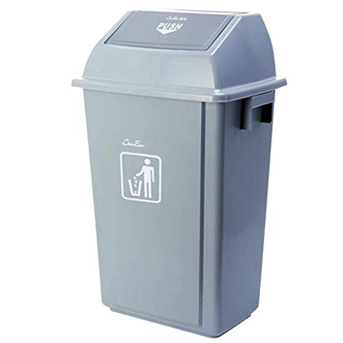 (Waste Recycling Paper Bins Square Trash Can Untouchable Square Trash/Garbage Container with Lid, Top and Large Soft Trash Can Combo Pack, Swing Lid Trash Can for Indoor, Outdoor Or Commercia )