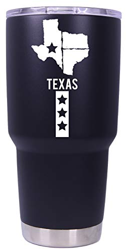 Texas State Shape Flag Lone Star State Trendy Souvenir 20 oz Insulated Stainless Steel Tumbler