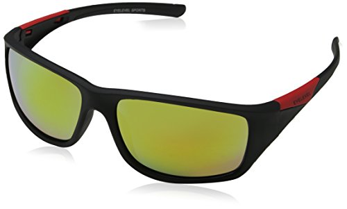 Asteroid Black Yellow para 60 Red Gafas Eyelevel de Hombre Negro Mirror Sol aZwBxq