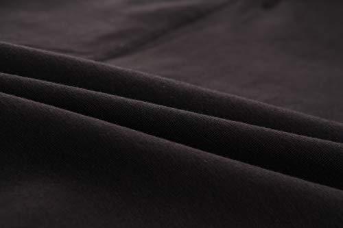 KEFITEVD T-shirt tactique pour homme avec fermeture éclair 1/4 - Avec poches sur les manches - Fermeture Velcro - Pour… 7