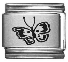 Butterfly Laser Charm - Butterfly Laser Italian Charm