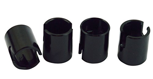 Dhawk Racing Aluminum Pin Retainer /Drive Shaft Safety Collar Black 4 pcs For Traxxas -