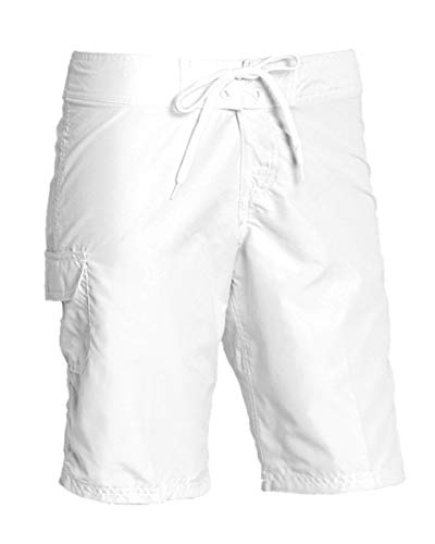 Kanu Surf Women's Marina UPF 50+ Active Swim Board Short (Reg & Plus Sizes), White, 14 ()