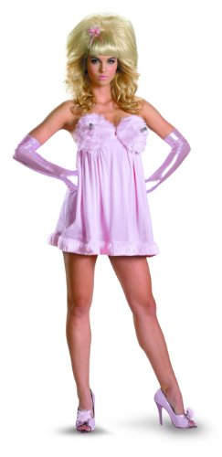 Disguise Austin Powers Fembot Sassy Deluxe Costume, Pink, Large/12-14