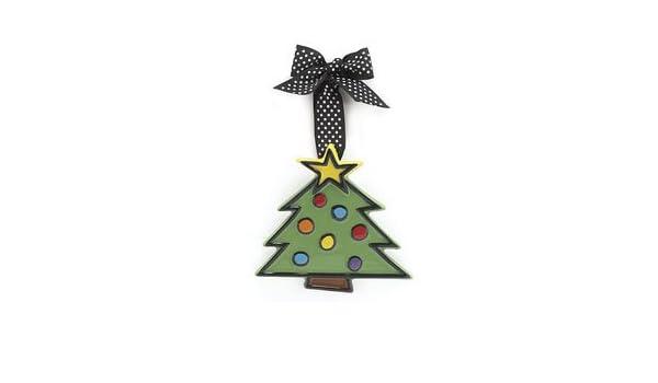 Amazon Com Ceramic Christmas Tree Small Ornament Holiday Gift
