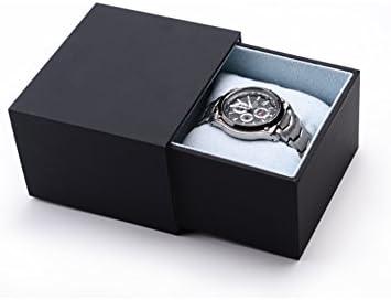 Cajas de joyería decorativas,El papel de tacto Caja de reloj Solo Caja regalo Caja negra-negro: Amazon.es: Hogar